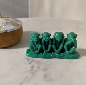 Green monkeys figurine